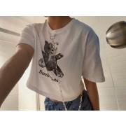Chain printed cotton women's T - Camicie (corte) - $19.99  ~ 17.17€