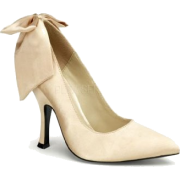 Champaign Satin Bow Classy Heel Pump - 9 - Shoes - $39.10