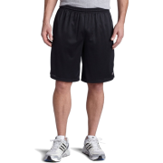 Champion  Men's Long Mesh Short With Pockets Black - Shorts - $5.69