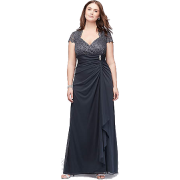 Charcoal  evening gown - People -