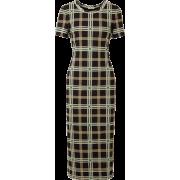 Checked mesh midi dress - Obleke -