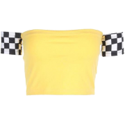 Checker crop top - T-shirts -