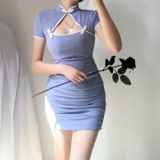 Cheongsam dress sexy tight hip skirt - Haljine - $27.99  ~ 177,81kn