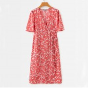 Cherry branch printed side buckle strap - Dresses - $27.99