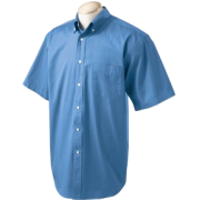 Chestnut Hill 32 Singles Sort Sleeve Twill Shirt. CH505 Atlantic - T-shirts - $15.13
