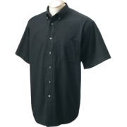 Chestnut Hill 32 Singles Sort Sleeve Twill Shirt. CH505 Black - T-shirts - $15.13