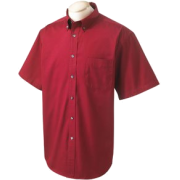 Chestnut Hill 32 Singles Sort Sleeve Twill Shirt. CH505 Merlot - T-shirts - $15.13