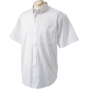 Chestnut Hill 32 Singles Sort Sleeve Twill Shirt. CH505 White - T-shirts - $15.13