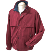 Chestnut Hill CH850 Lodge Microfiber Jacket Merlot/New Navy - Jacket - coats - $33.32