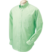 Chestnut Hill Men's Long Sleeve Glen Plaid Button Down Dress Shirt CH510 Grass - Long sleeves shirts - $14.47