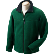 Chestnut Hill Men's Polartec Full Zip Fleece Jacket. CH950 darkest green/black - Long sleeves t-shirts - $36.99