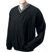 Chestnut Hill Men's V-Neck Wind Shirt. CH800 Black - Long sleeves t-shirts - $10.16
