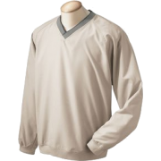Chestnut Hill Men's V-Neck Wind Shirt. CH800 Stone - Long sleeves t-shirts - $10.16