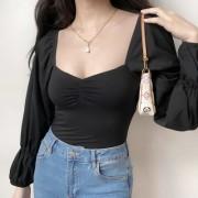 Chest pleated collar shirt - Majice - kratke - $28.99  ~ 24.90€