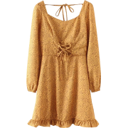 Chest strap ruffle dress - Dresses - $27.99