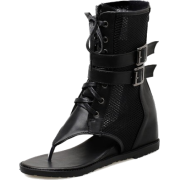 Chic Buckle-Loop Open Toe Ankle Boots - Stiefel - $53.19  ~ 45.68€