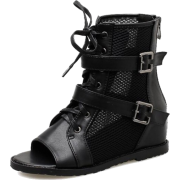 Chic open toe gauze cozy boots - Stiefel - $48.99  ~ 42.08€