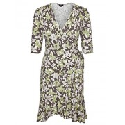 Chicwe Women's Plus Size Stretch Floral Printed Flirty Flounce Wrap Dress - Casual and Party Dress - Dresses - $64.00