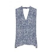 Choker Tops for Women V-Neck Sexy Summer Blouse Tanks Sleeveless Floral Shirt - Dresses - $12.99  ~ £9.87
