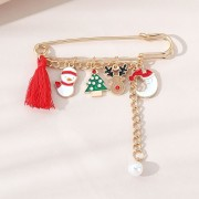 Christmas Retro Fashion All-match Popular Pearl Brooch Wholesale Nihaojewelry Nh - Other jewelry -
