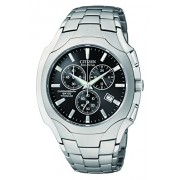 Citizen Men's AT0890-56E Eco-Drive Chronograph Titanium Black Dial Watch - Watches - $355.00