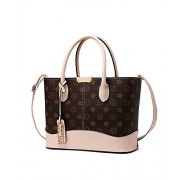 Classic Floral Womens Designer Faux Leather Stylish Top-Handle HandbagTote Shoulder Bag - Bag - $35.00