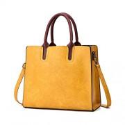 Classic Retro Large Capacity Pu Leather Tote Handbag Messenger Shoulder Bags - Torbe - $29.99  ~ 25.76€
