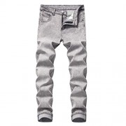 Cloudstyle Mens Casual Stretch Washed Jeans Modern Comfy Straight Fit Cotton Denim Pants - Hlače - duge - $27.99  ~ 24.04€