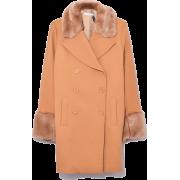 Coat with Fur trim - Jacket - coats -