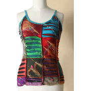 Colorful tank top (Eastern Serenity) - Tanks - $49.00