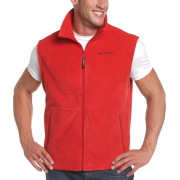 Columbia Men's Cathedral Peak Vest Intense Red - Vests - $15.29