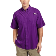 Columbia Men's Tamiami II Short Sleeve Shirt Iris GlowSize: - Shirts - $31.00