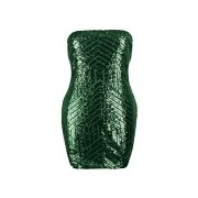 Conail Coco Women's Sexy Sparkling Sequin Plus Size Bodycon Stretchy Mini Party Dresses - Dresses - $26.99
