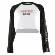 Contrast raglan sleeve letter webbing st - Hemden - kurz - $25.99  ~ 22.32€