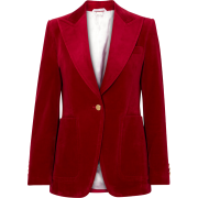 Cotton-blend velvet blazer - Marynarki -