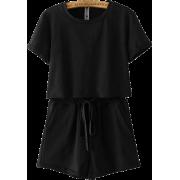 Cotton round neck short-sleeved T-shirt - Shirts - $27.99