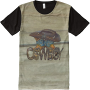 Country Wood Cowboy All-Over-Print t-Shi - T-shirts - $42.20