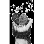 Couple hugging - Illustrazioni -