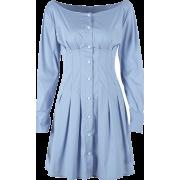 Court retro style high waist slim single - Dresses - $27.99