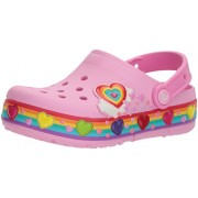 Crocs Kids' Crocband Fun Lab Lights Rainbow Hearts Clog - Shoes - $27.97