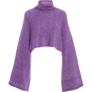Cropped Mohair-Blend Turtleneck - Pullovers -