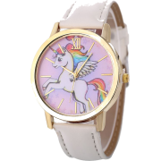 Cute Children's Pony Unicorn Rainbow Wings Belt Quartz Ladies Casual Watch Whole - Pasovi -