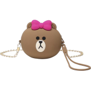 Cute Girl Brown Bear Shoulder Messenger - Torby posłaniec - $17.99  ~ 15.45€