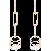DANNIJO Vito drop down cube earrings - Earrings -