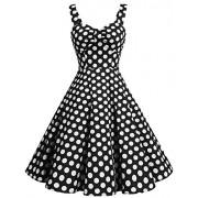DRESSTELLS 1950s Retro Audrey Swing Pinup Rockabilly Dress Pleated Vintage Dress - Dresses - $15.99