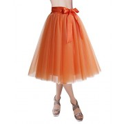 DRESSTELLS Knee Length Tulle Skirt Tutu Skirt Evening Party Gown Prom Formal Skirts - My look - $23.97