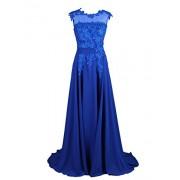 DRESSTELLS Long Bridesmaid Dress Applique Prom Dress Evening Party Gowns - Dresses - $29.99