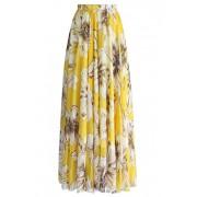 DRESSTELLS Women's Long Floral Print Maxi Chiffon Polka Dots Long Vintage Skirts - Skirts - $79.99
