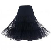 DRESSTELLS Women's Vintage Rockabilly Petticoat Skirt Tutu 1950s Underskirt - Underwear - $8.99