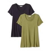 Daily Ritual Women's Jersey Short-Sleeve Scoop Neck Swing T-Shirt, 2-Pack - Shirts - $25.00